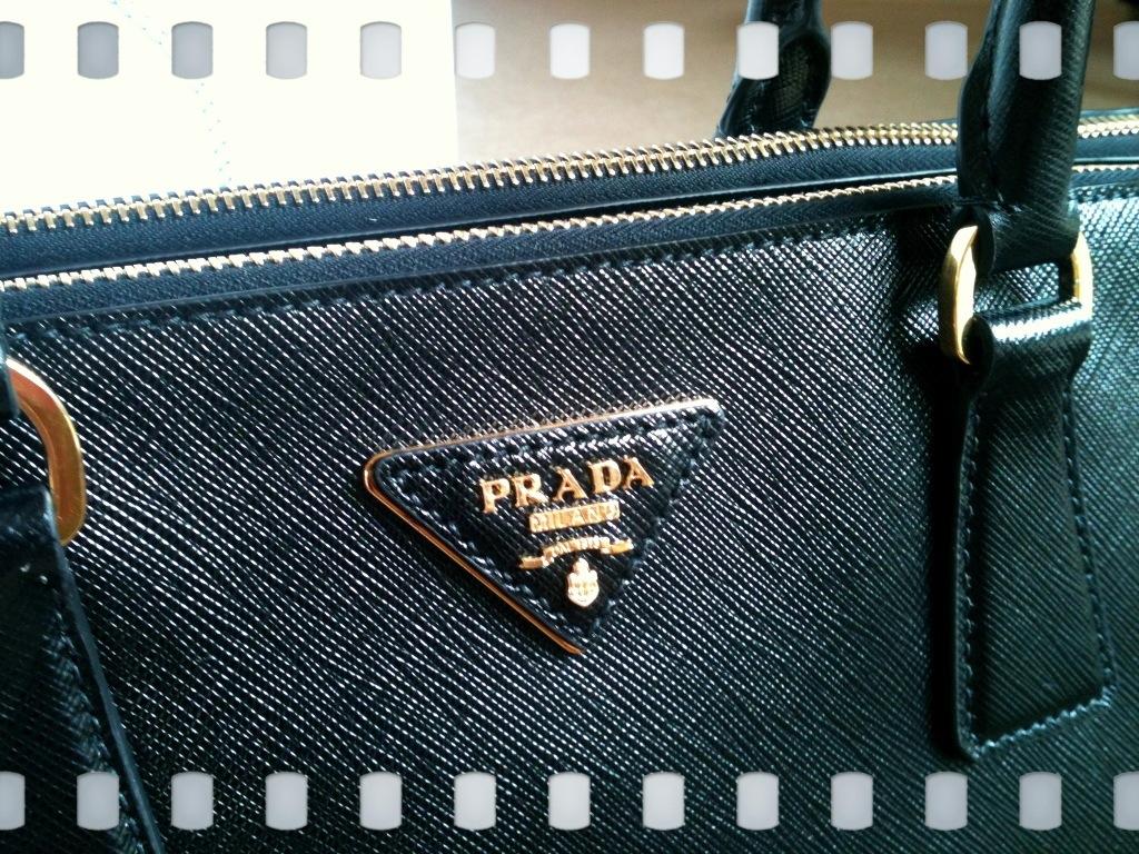 fba8270392b2 saffiano black leather prada tote