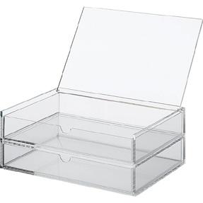 Muji acrylic flip top with drawer